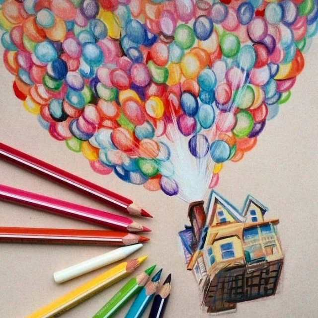 1001 + ideas for cool things to draw - photos and tutorials