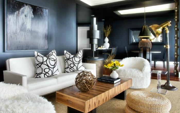 Color Pared Salon Mueble Blanco - Hehub.top