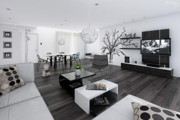 Deco Salon Moderne Noir Et Blanc Evejoy Top