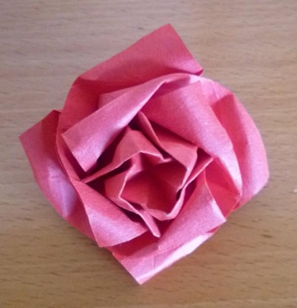 Un Origami Facile Fleur Offrir Ou Pour Vous Amuser