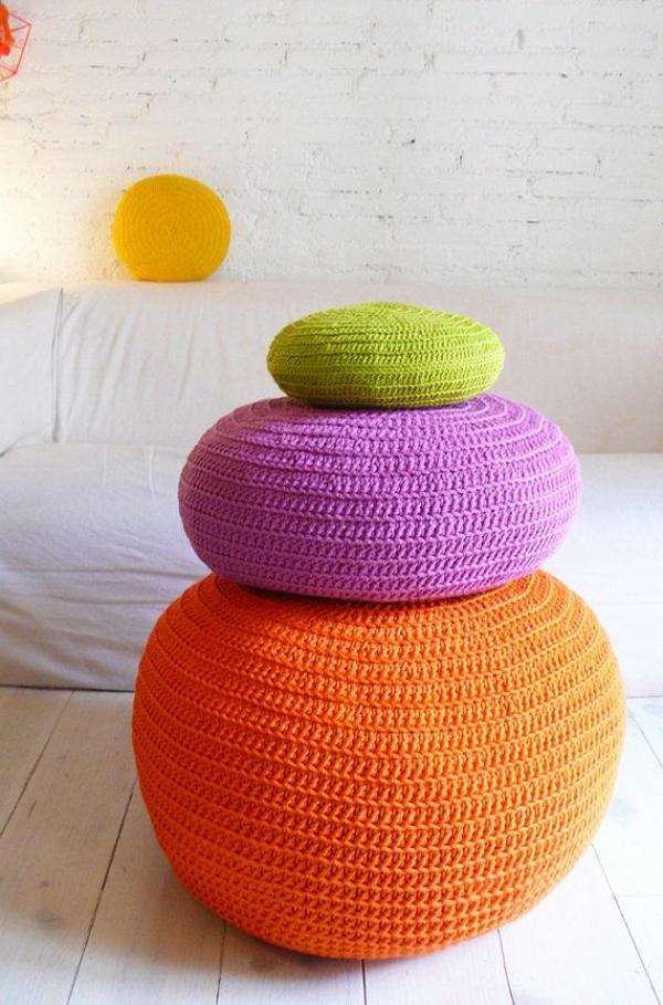 Le Pouf Au Crochet Confort Et Beaut La Maison Archzinefr