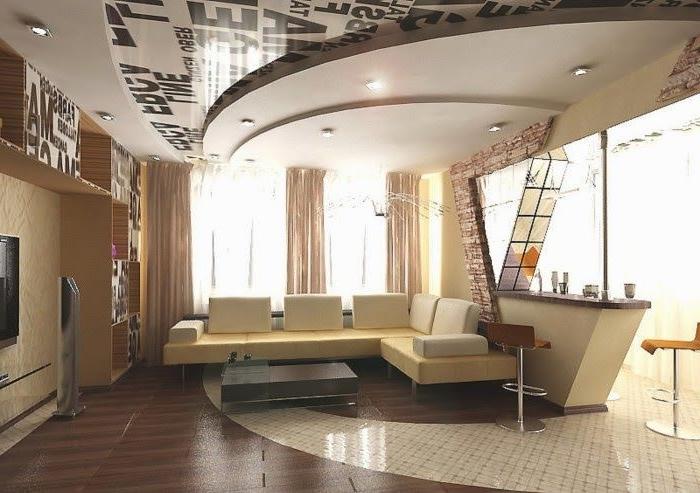 meuble tv en placo design pour idees de