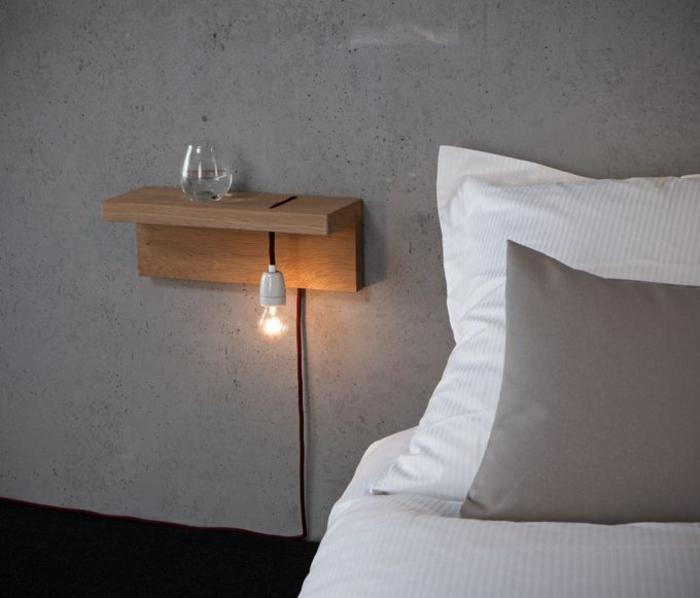 Installer Une Table De Nuit Suspendue Prs De Son Lit