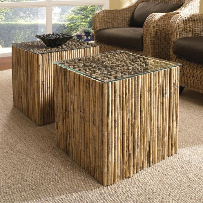 meuble en bambou