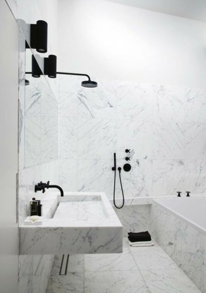 photos pour la salle de bain en marbre