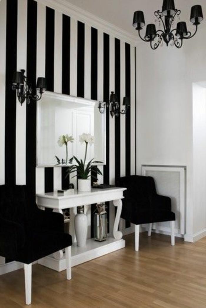 Le Papier Peint Noir Et Blanc Est Toujours Un Singe D