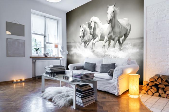 Sublimez Vos Intrieurs En Mettant Un Papier Peint Blanc