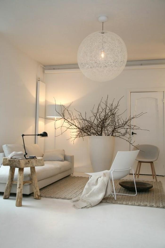 Salon Beige Et Blanc - Playme.top