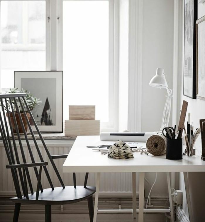 comment decorer un bureau laque blanc