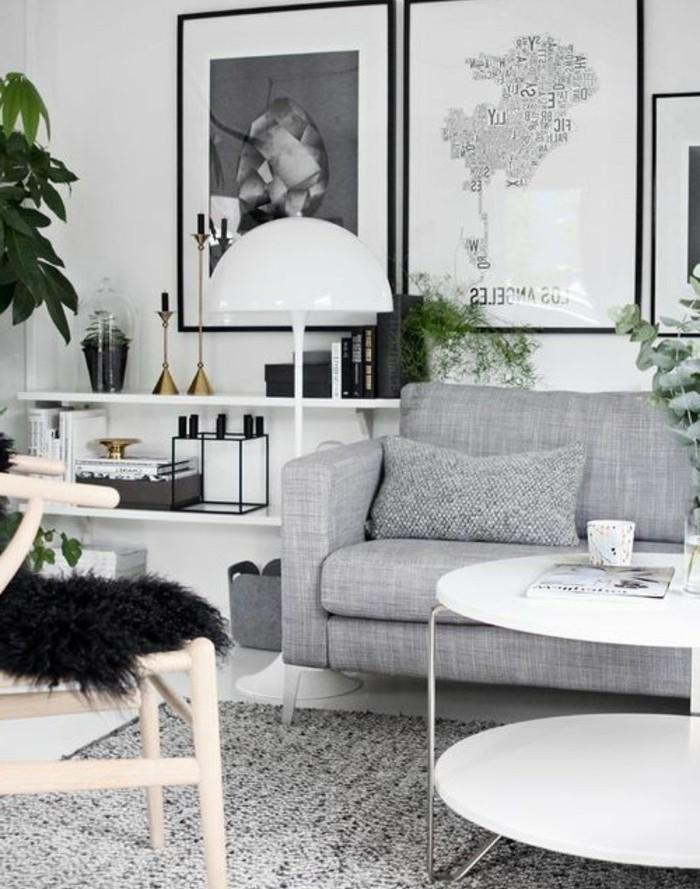 Deco Salon Moderne Noir Et Blanc Gris , Sunfay.top