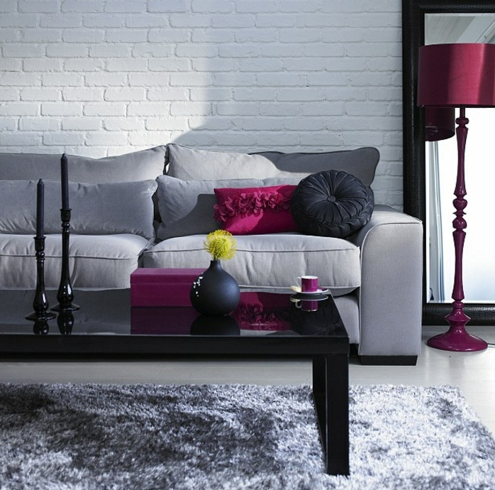 Un Salon En Gris Et Blanc Cest Chic Voil 82 Photos Qui