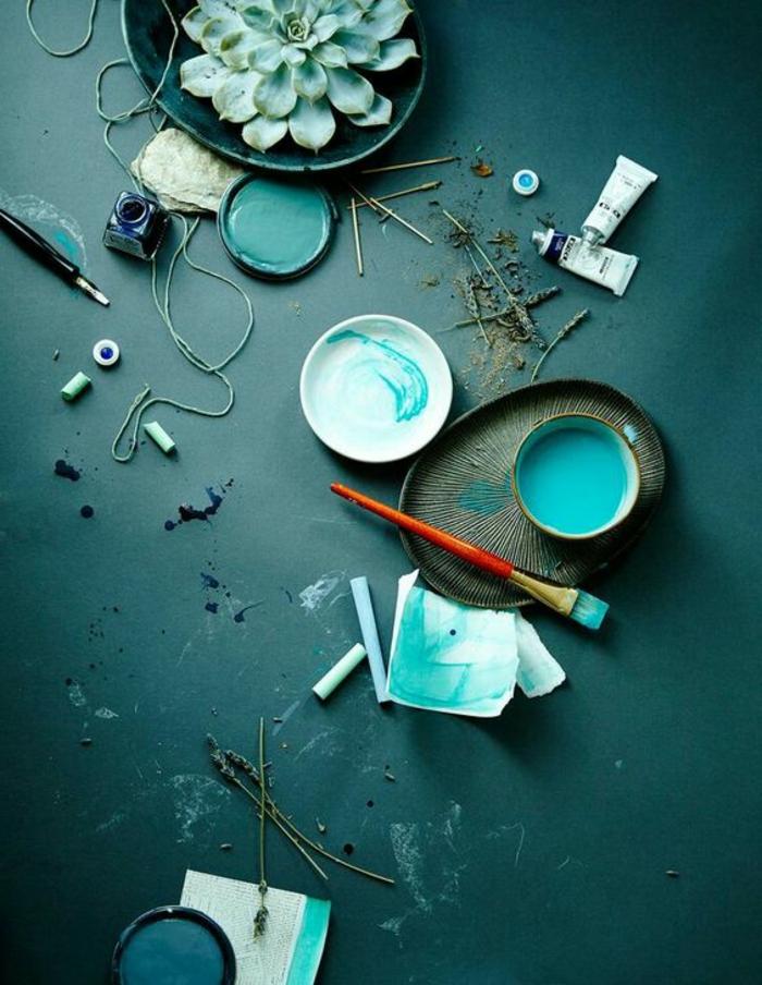 Bleu Paon Peinture Best Fauteuil Relaxation Avec Dco