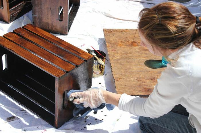 fabriquer un meuble en cagette