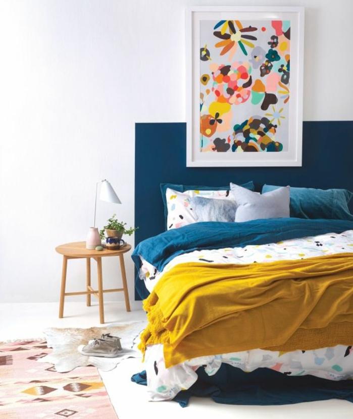 Idee Deco Chambre Bleu 1001 Id Es Pour Une Chambre Bleu Canard P Trole Et Paon Sublime Deco