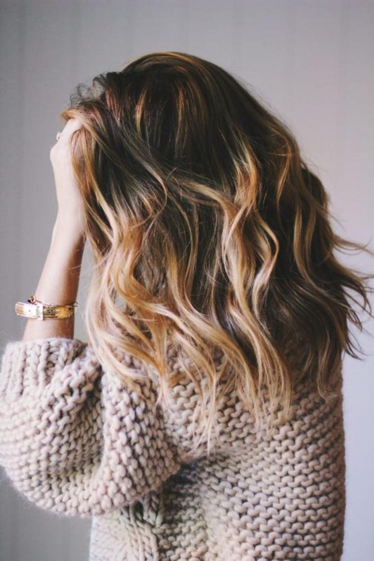 Balayage Blond Platine Cheveux Mi Long