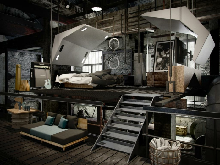 Deco Industrielle Chambre