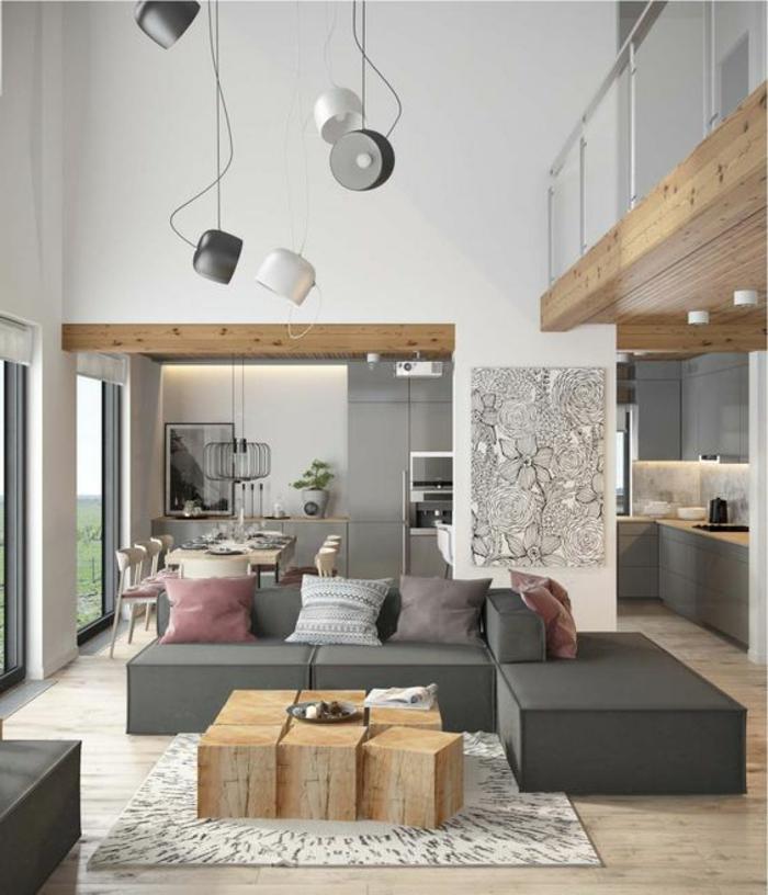 Deco Salon Bois Moderne