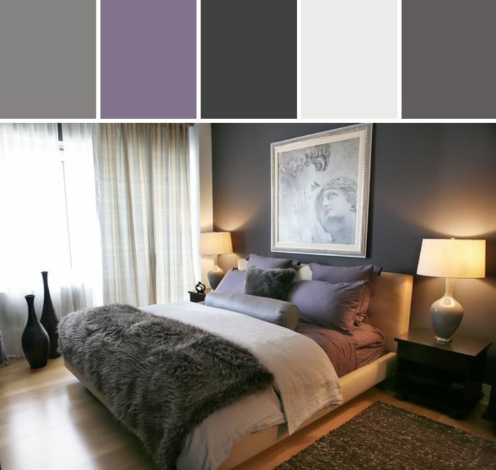 chambre adulte taupe prune