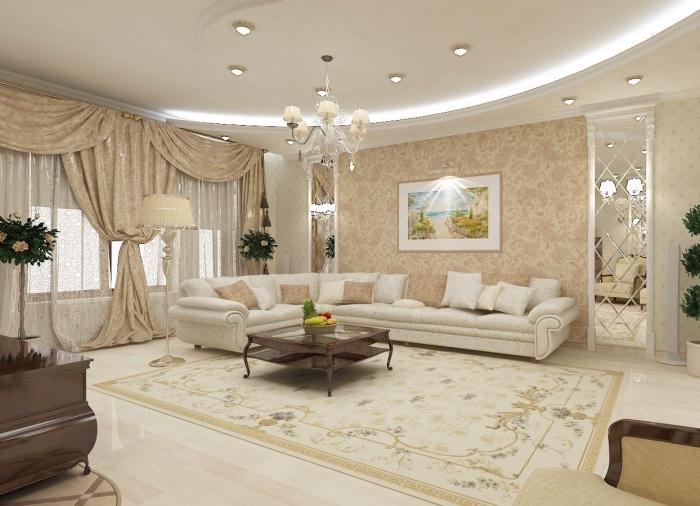 Finest Ide Deco Salon Moderne Somptueux Canap Blanc Cass