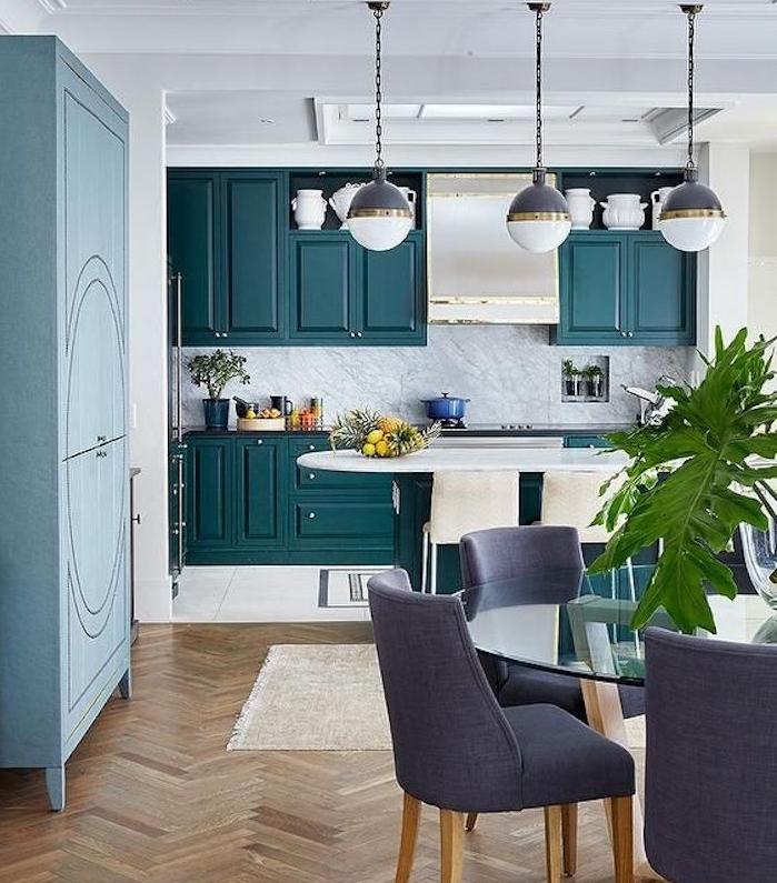 Gallery Of Idee De Deco Facade Cuisine Nuance De Bleu
