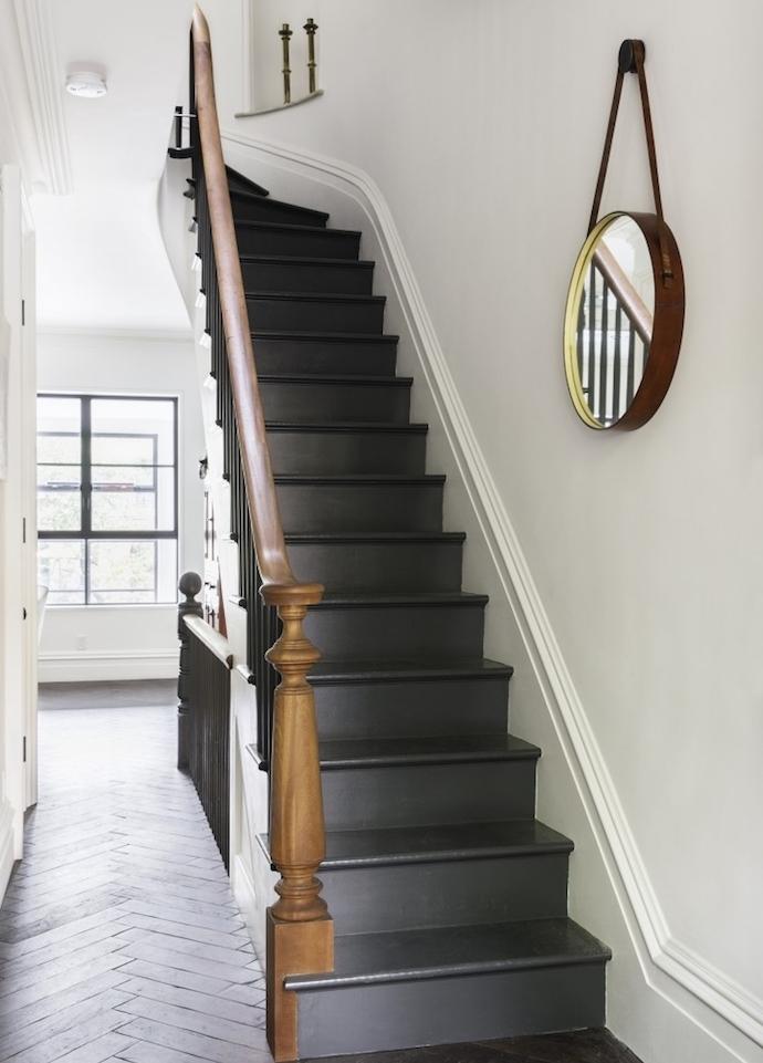 Excellent Modele Escalier Repeint De Peinture Ardoise