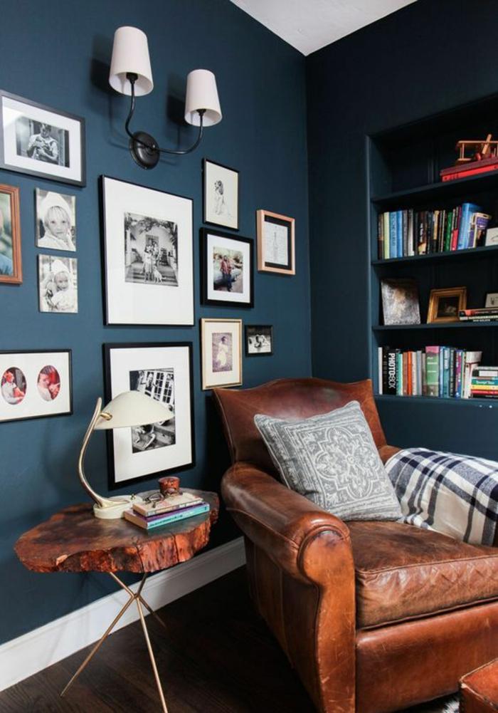 Best Salon Murs Bleu Petrole Images - House Design - marcomilone.com