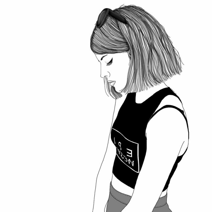 Fond Decran Dessin Fille Noir Et Blanc 53 Meilleures Images