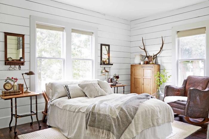 Deco Chambre Adulte Blanc Et Bois | Unixpaint