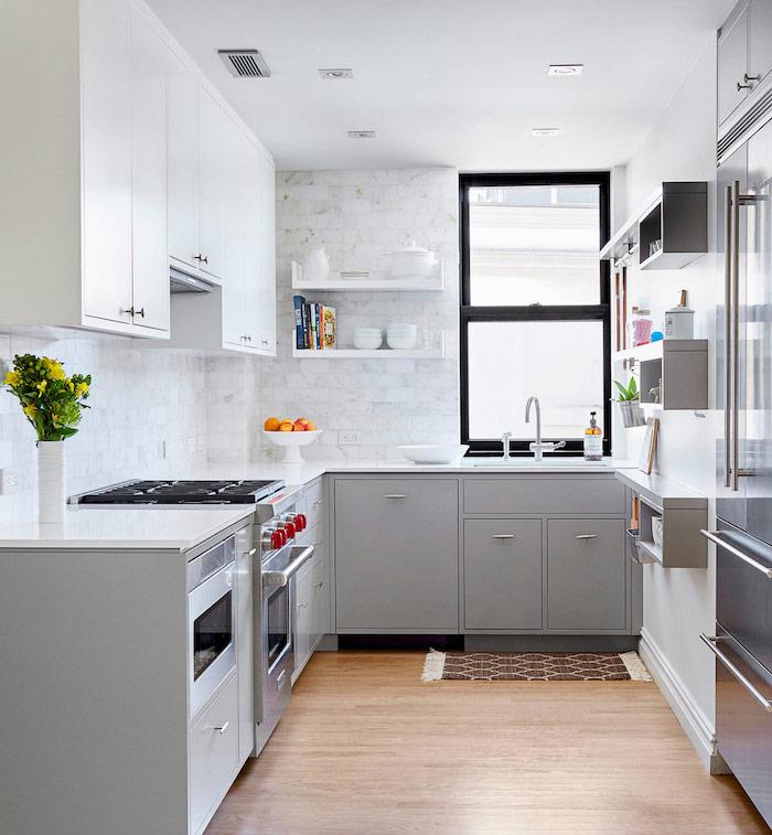 deco cuisine gris et blanc