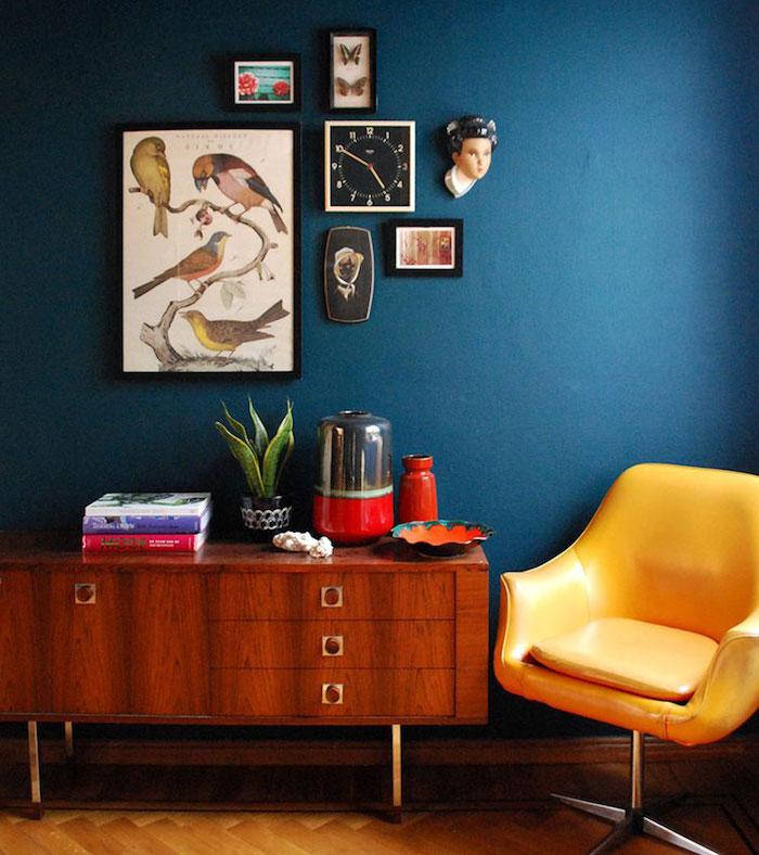 Salon Bleu Canard Et Rose Unixpaint