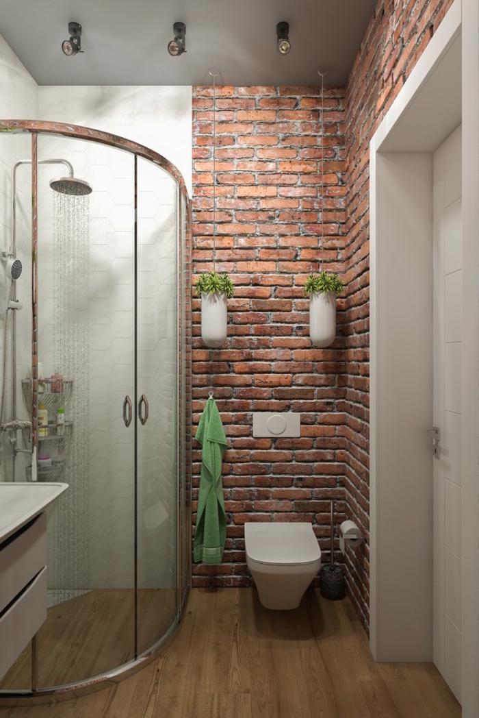 petite salle de bain avec douche italienne