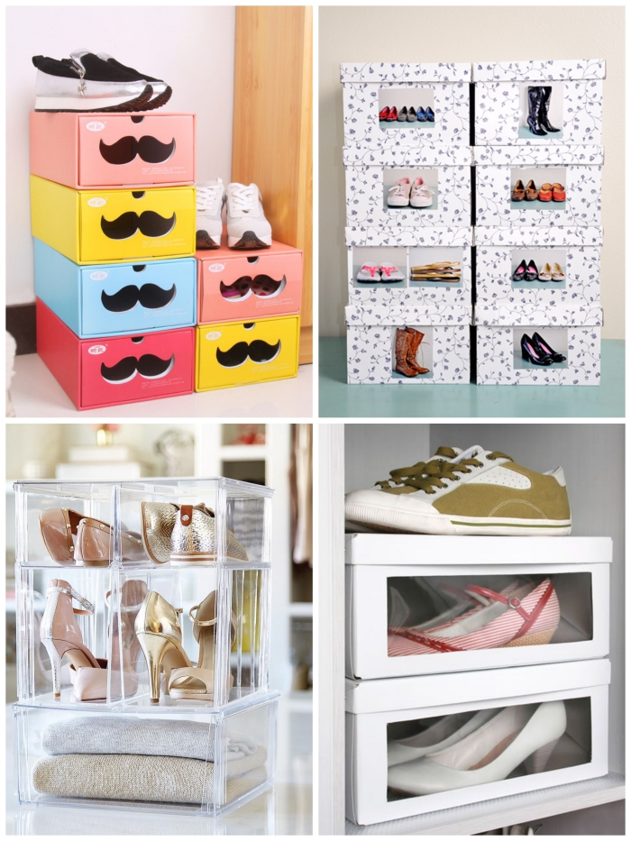 astuce rangement chaussures