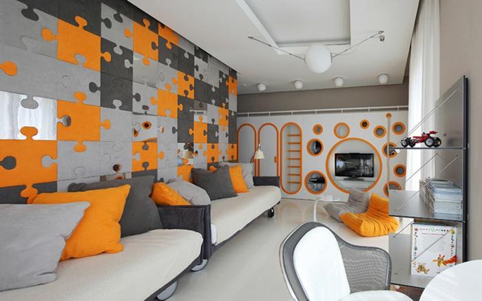 Deco Chambre Ado Orange Et Gris | Unixpaint