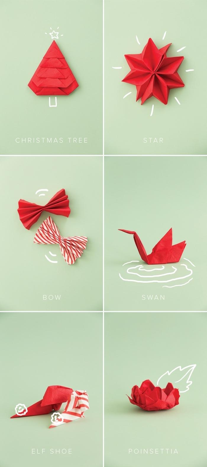 1001 Tutos Et Idees Pour Un Pliage De Serviette Pour Noel