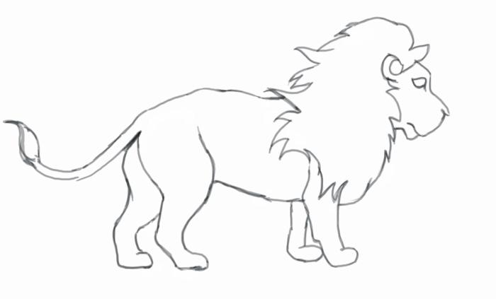 Dessin Animaux Lion Facile Dessin Lion Facile Recherche