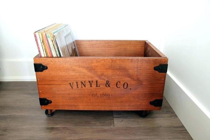 caisse de rangement vinyle venus et judes