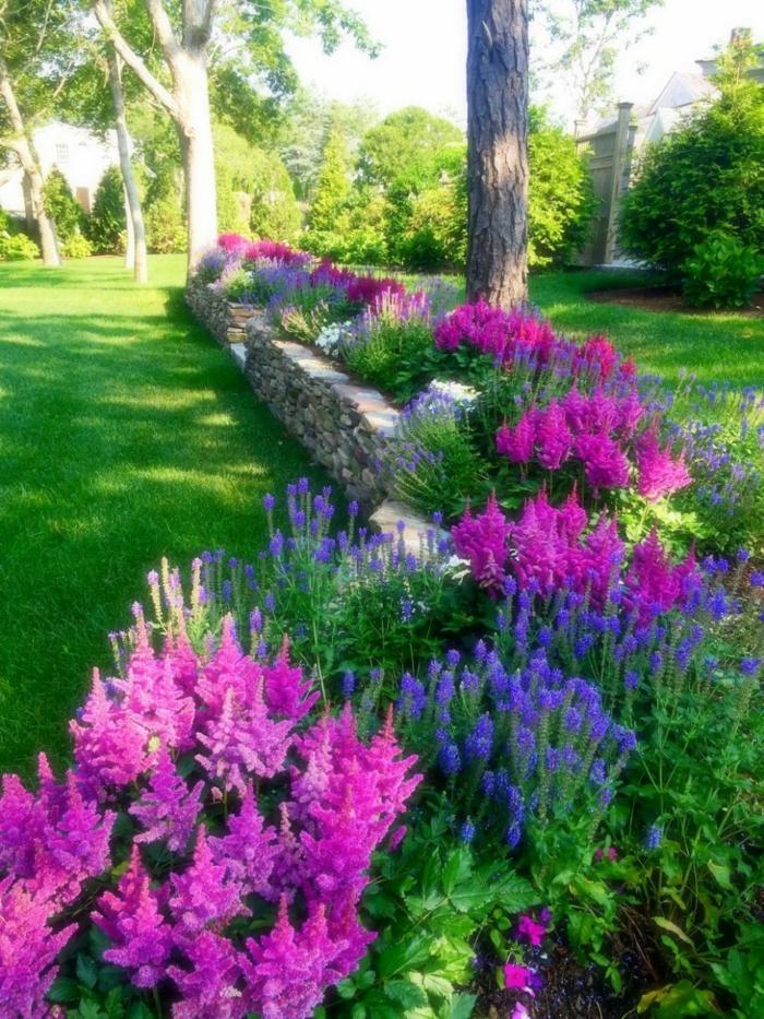 idees pour un massif de fleurs joli et
