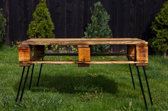 modeles de table de jardin en palette