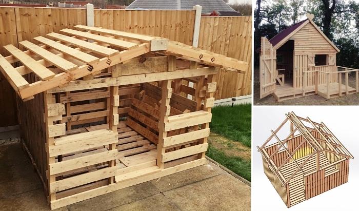 modeles de cabane en palette ou bois