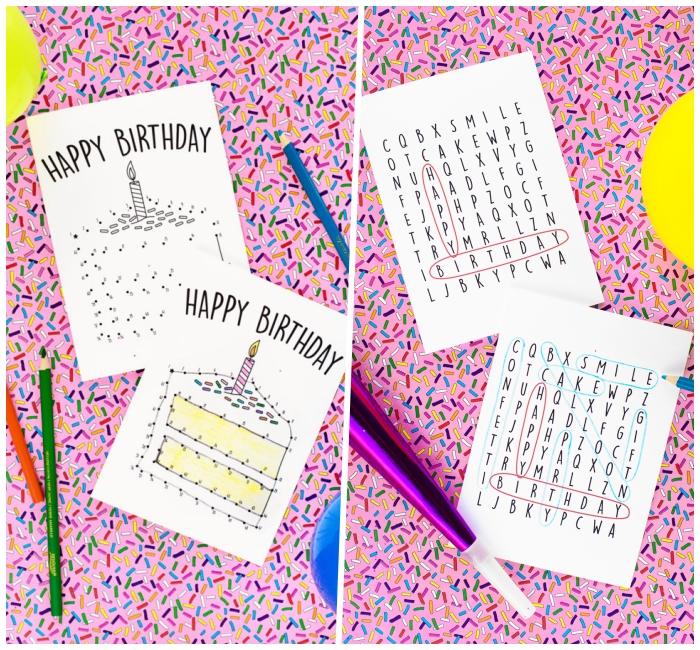 idees pour une carte d anniversaire a
