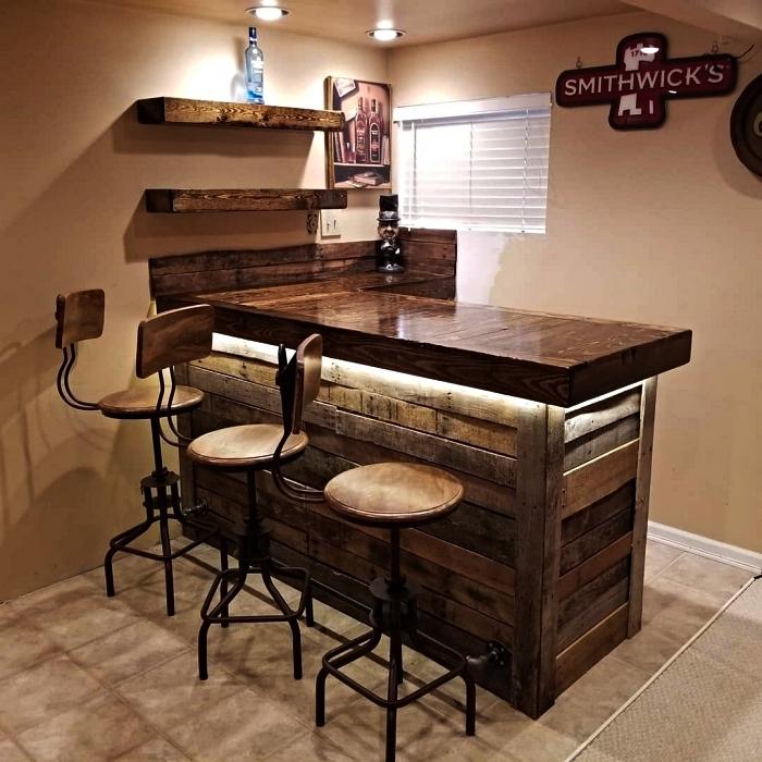 1001 Idees Pour Fabriquer Un Bar En Palette Pour L Exterieur Ou L Interieur