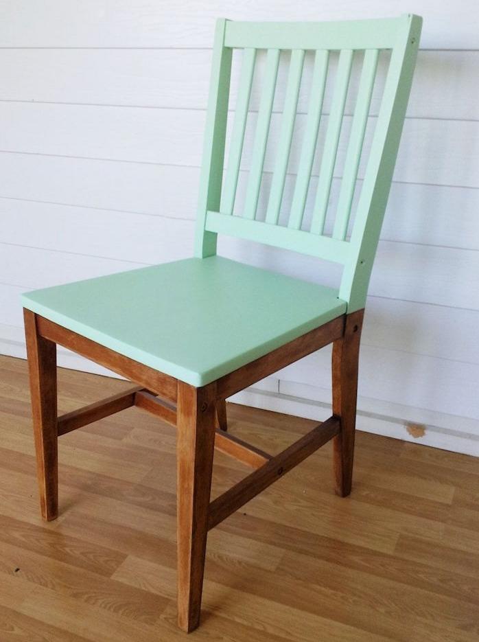 Activite Brico De L Ete Peindre Une Chaise En Bois