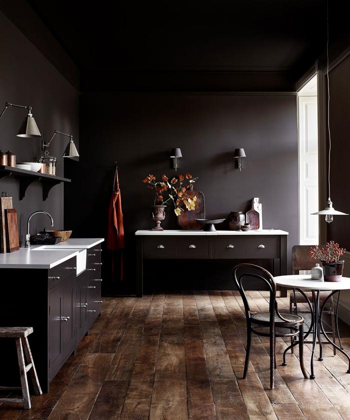 modeles canons de la cuisine noir mat