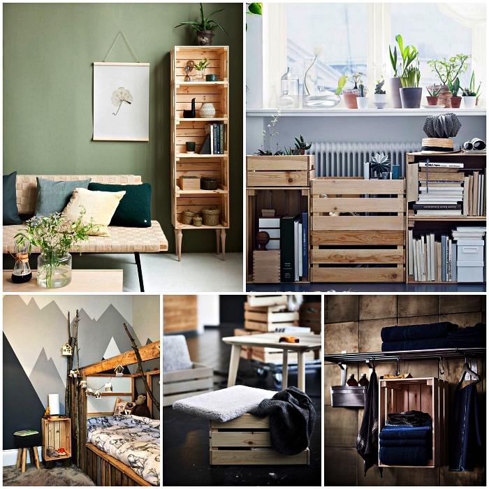 1001 Idées Pour Détourner Une Caisse En Bois Ikea