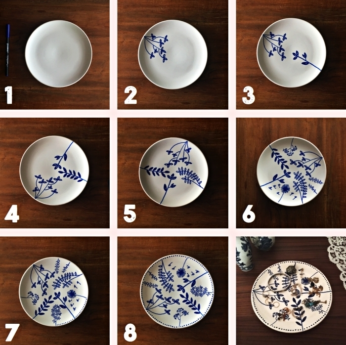 peinture sur porcelaine pour customiser