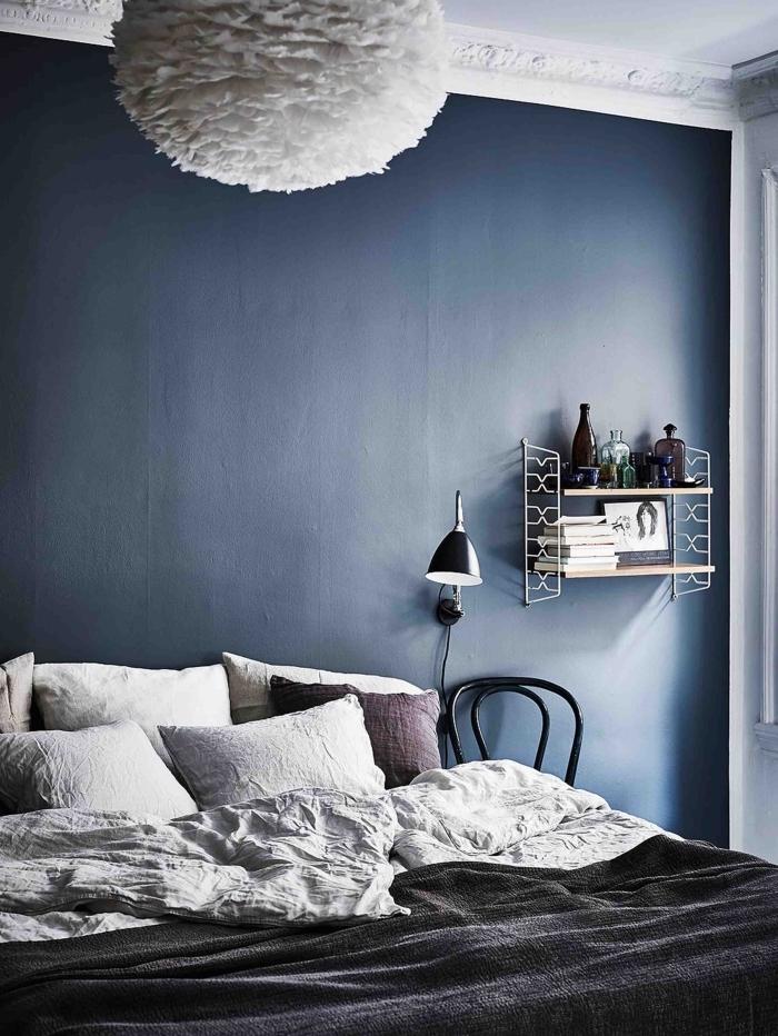 chambre bleu nuit