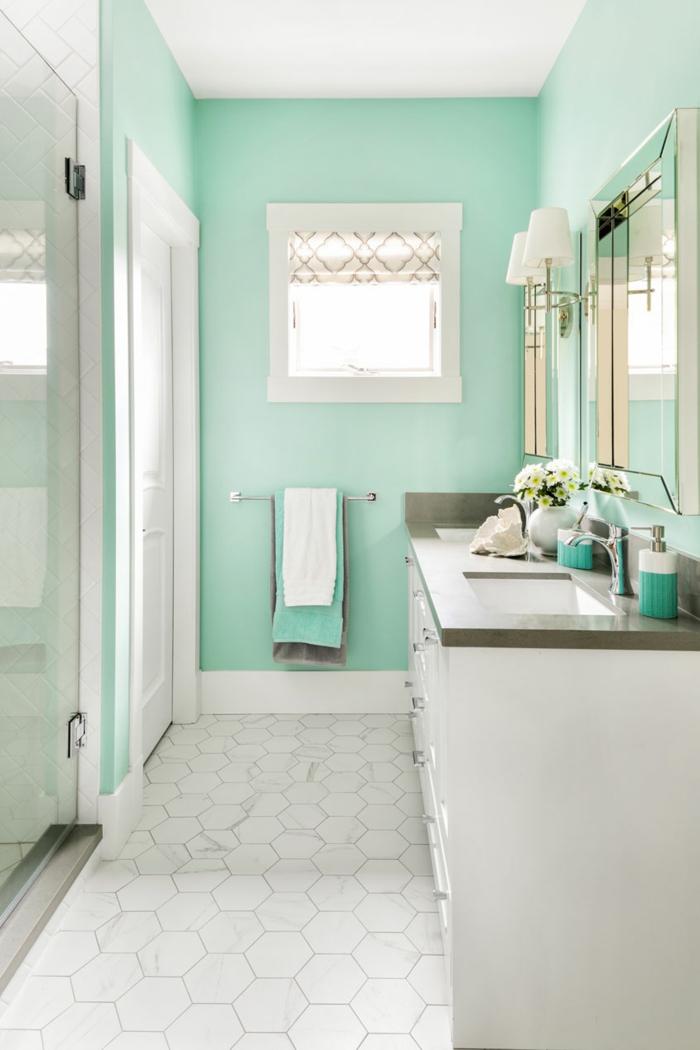 1001 idees de salle de bain verte