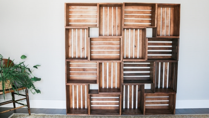 en palette ou caisses de bois