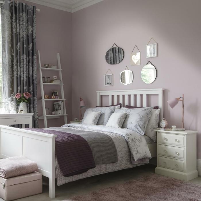 https archzine fr maison chambre enfant chambre de fille en rose et gris deco idee