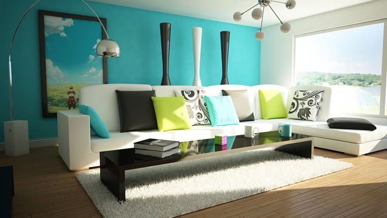 Colore Pareti Azzurro Polvere : Forum arredamento u consiglio colore parete dietro libreria